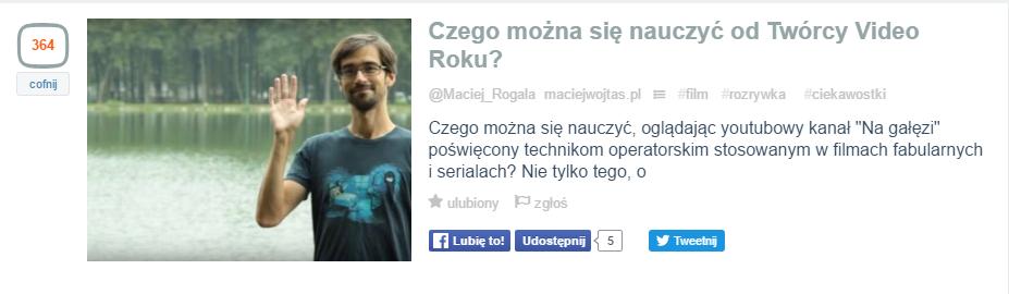 Czego można się nauczyć odTwórcy Video Roku Wykop.pl