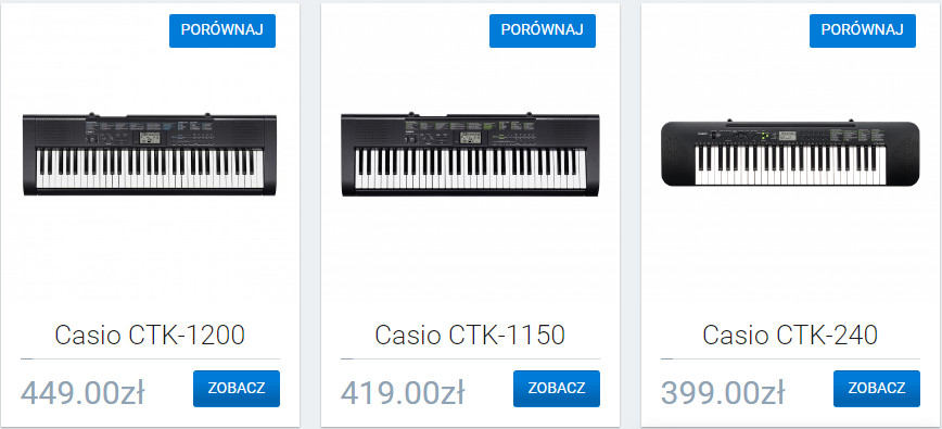 Keyboardy Strona 2 Casio Music